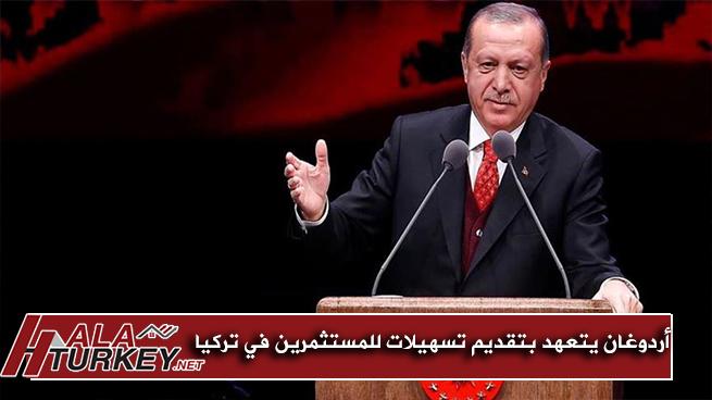 أردوغان يتعهد بتقديم تسهيلات كبيرة للمستثمرين في تركيا