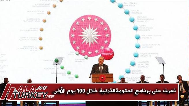 تعرف علي برنامج الحكومة الرئاسية التركية خلال 100 يوم الأولي