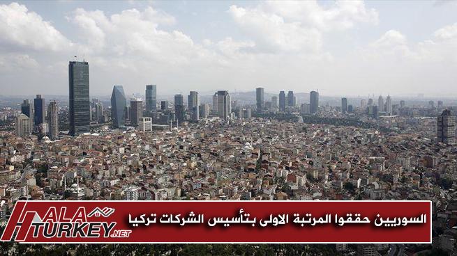 السوريين حققوا المرتبة الاولى بتأسيس الشركات في تركيا