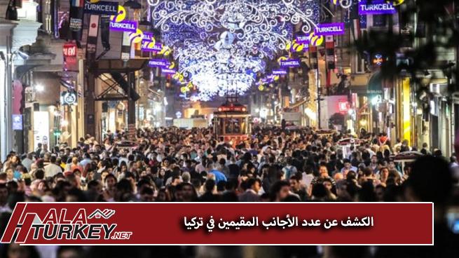 الكشف عن عدد الأجانب المقيمين في تركيا