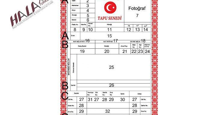 كيف أقرأ سند الملكية (الطابو) في تركيا؟